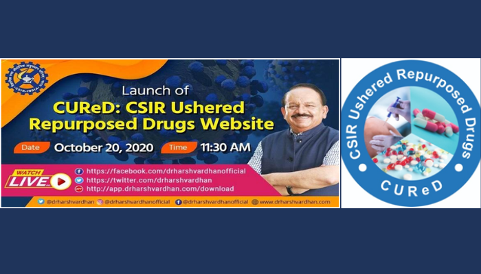 CSIR Partnered Clinical Trials Website CUReD Launched by Dr Harsh Vardhan