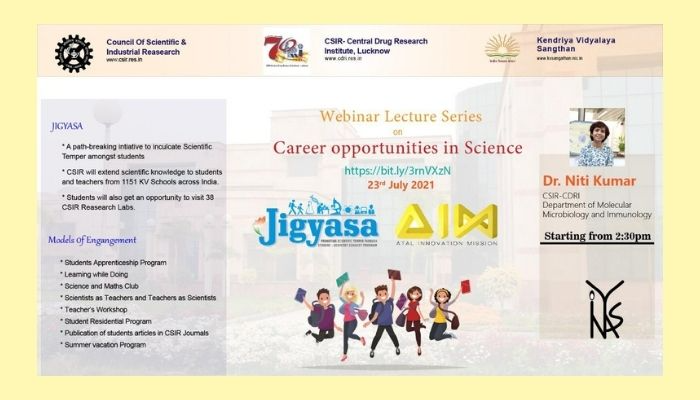 Webinar Lecture Series on Career opportunities in Science by CSIR-CDRI