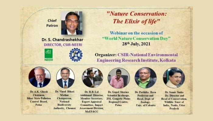 Webinar on the occasion of World Nature Conservation Day by CSIR-NEERI